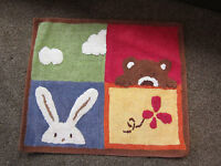 Nursery rug furniture decorate flowers floor infant baby kids children room