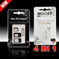 2pc Nano SIM Card Micro Standard Adapter Adaptor Converter Set For iPhone 5 4S 4