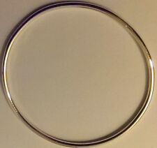 hand made sterling silver bangle 2.5mm thick nice heavy weight 6.5cm diameter