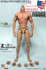 """12"""" ZC TOYS Hot Muscular Body Toy Thin Thigh Figure F 1/6 Wolverine Sculpt USA"""