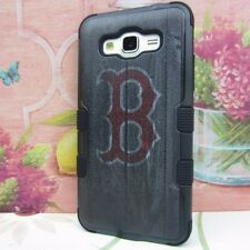 Boston Red Sox Armor Impact Hard Cover Case for Samsung Galaxy Grand Prime G530