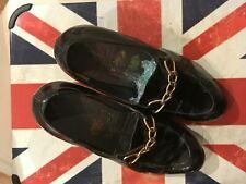 John Lobb Womens Black Patent Vintage Shoes (Bespoke fitting Approx 4 5 / 5)