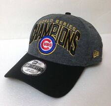 *ReadSize* CHICAGO CUBS WORLD SERIES CHAMPIONS CHAMPS HAT dark gray GOLD SHIMMER