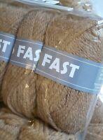 Paquet 10 Pelotes de Grosse Laine FAST / Beige Brun