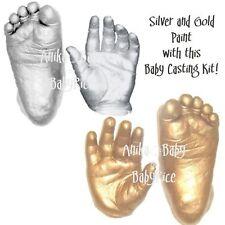 Baby Casting Kit make 3D Keepsakes Plaster Casts Feet Hands Prints Silver Gold