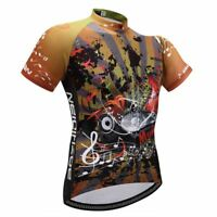 Men's Short Sleeve Cycling Biking Jersey Full Zip Bicycle Bike Shirt Top S-5XL