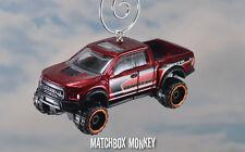 2017 Ford F150 Raptor Crew Ext Cab Pickup Truck Custom Christmas Ornament 1/64