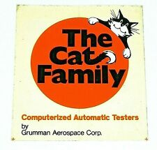 Vintage Grumman Aerospace Sticker The Cat Family Window Sticker
