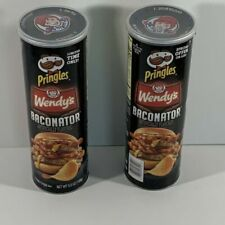 2X  PRINGLES Wendy's BACONATOR Limited Time FLAVORED POTATO CHIPS 5.5 OZ FRESH