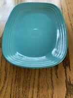 "SERVING PLATTER PLATE turquoise blue FIESTA 12"" NEW"