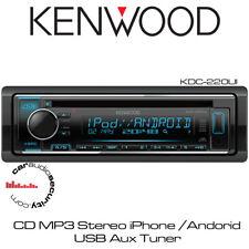 Kenwood KDC-220UI - CD MP3 Stereo iPhone Andorid USB Aux Tuner Car Radio