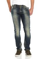 Nudie Damen & Herren Unisex Slim Fit Jeans | Grim Tim Worn Crinkles |W31 L30