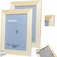 "2 Stück Set IKEA VANKIVA ""21x30 cm. DIN A4 Holz Foto Bilderrahmen Kiefer NEU&OVP"