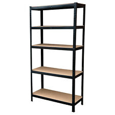 5 Tier Heavy Duty Boltless Metal Shelving Shelves Storage Unit Garage Home Shed