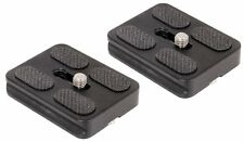 Set Of 2 Quick Release Plates for Arca-Swiss Standard Tripod (PU50)