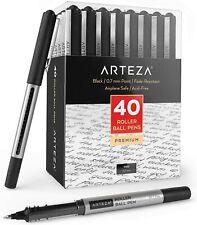 ARTEZA Roller Ball Pens, Black, 0.7 mm Bullet Point - Pack of 40