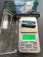 Balance électronique de poche précision 0,1g , jusqu'à 500g, balance bijoutier
