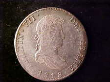 FERDINANAD VII BUST 8 REALES 1818 JJ. LUSTROUS IN THE DEVICES