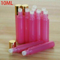 3-96pcs 10ml Rose Red Roll On Glass Bottle Roller Ball For Perfume Essential Oil