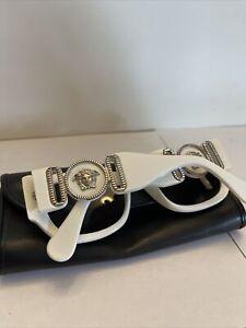 RARE!! Gianni Versace Mod.413/B Col.850 White Vintage Sunglasses Rihanna Migos