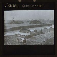 Magic Lantern Slide Chinese Graves In China