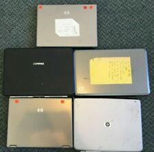 Lot of 5 Broken Laptops 4 Hp 1 Compaq Missing Some Parts / Repair Metal
