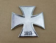 Metal 1813 Iron Cross Tank Emblem Badge Decal Harley HD Road King Sportster Dyna