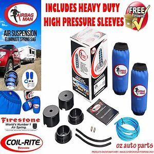 """FIRESTONE COIL AIR BAG SUSPENSION SPRING FOR NISSAN PATROL GU/GQ 3"""" WAGON HD HP"""
