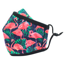 2-Pack Flamingo Unisex Clothmasks 3 layers - Adjustable straps - Nose Flap