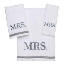 AVANTI MR AND MRS TOWEL SET OF 6 NEW