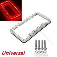 54 LED Lighting Acrylic Plastic Auto Car License Plate Cover Frame Universal Red