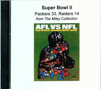 Super Bowl 2 audio CD Green Bay Packers Oakland Raiders Bart Starr Lombardi