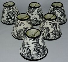 COLONIAL PATTERN CLIP ON LAMP SHADES (6)
