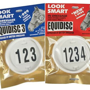 EQUIDISC 3 NUMBERS BRIDLE DISC FOR DRESSAGE JUMPING COMPETING