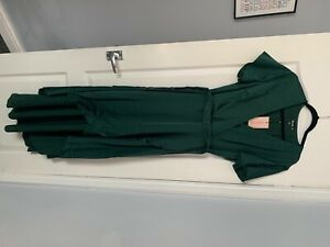 Missguided Green Satin dress - Size 12 - New with tags