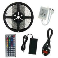 12V 5050 RGB LED Strip Light Waterproof 30LEDs/M IR Remote Controller Receiver