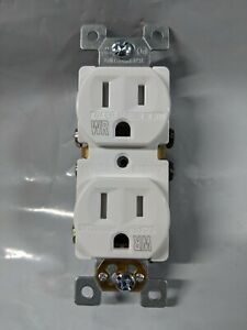 (10 pc lot) Duplex Receptacles 15 Amp 15A TAMPER WEATHER RESISTANT White TR/WR