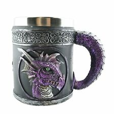 Purple Royal Dragon Mug Serpent Handle Medieval Collectible Home Decor Gift