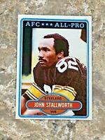 1980 Topps John Stallworth #130 Pittsburgh Steelers HOF NFL Football Card