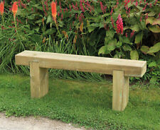 4ft GARDEN SLEEPER BENCH WOODEN OUTDOOR PATIO SEAT PRESSURE TREATED TIMBER 1.2m