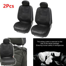 2X PU Faux Leather Car Truck Seat Covers Black Comfort Front Universal Cushion