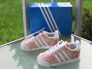 adidas Originals Samoa Pink Leather Ortholite SLIP-ON Sneakers Girls size 7K