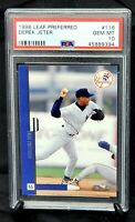 1996 Leaf Preferred HOF Yankees DEREK JETER Rookie Card PSA 10 GEM MINT - Pop 22