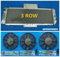 Aluminum radiator/radiateur + Fans For Renault Alpine A310 V6 1977-1985 81 82 83