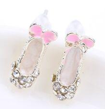 Bolsa De Regalo Gratis de Cristal Plateado Plata Pendientes De Zapatos De Ballet Bailarina Chicas Navidad