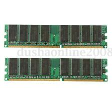 Mémoire RAM 2 GB (2x1 Go) DDR 400 PC3200 Non-ECC DIMM Memory Desktop PC 184 Pin