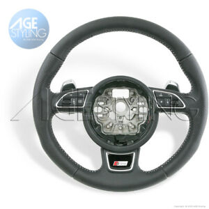 OEM Audi A1 A6 A7 S-Line Steering Wheel Extended G-Tronic Gear Paddle Shifters