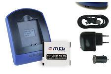 Chargeur+Batterie (USB) NB-11L pour Canon Powershot ELPH 110 HS, ELPH 115 IS