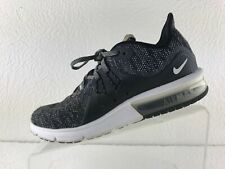 Nike Air Max Sequent 3 Womens Black/Gray Lace Up Running Shoe Size 7