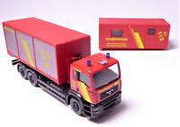 H0 WIKING MAN Feuerwehr Set Wechselcontainer ABC Katastroph.6250343 AUSVERKAUFT